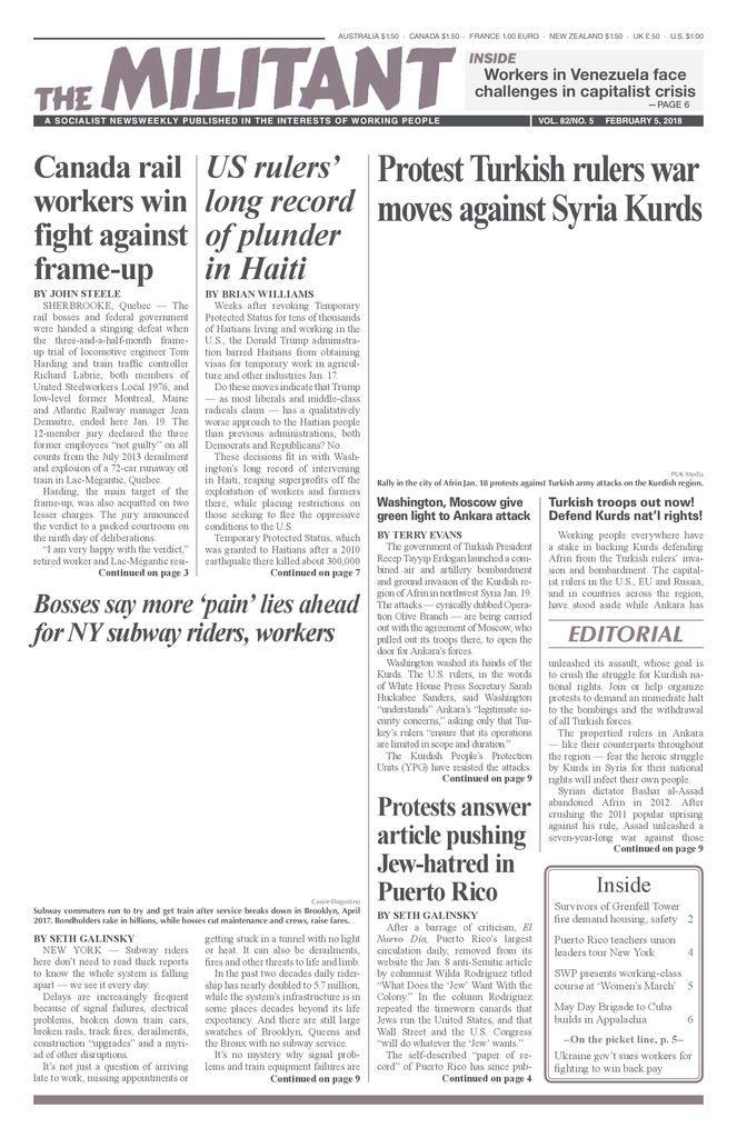 thumbnail of The Militant8205