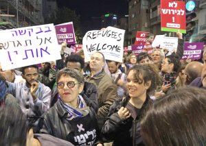 Tel Aviv protest: Stop deportation of African refugees