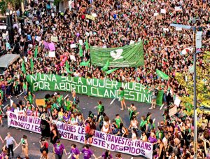 Argentina: Masiva marcha a favor del aborto el 8 de marzo