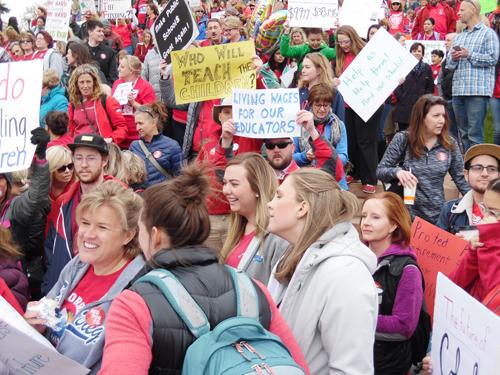 Denver rallies demand school funding, pay raises
