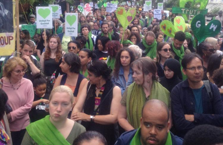 London march marks 1 year since Grenfell Tower fire