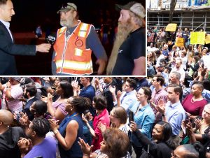 """Protests in Pittsburgh area have won broad support in working class to fight to convict Michael Rosfeld, cop who killed Antwon Rose. Above, truckers say, """"Killing has got to stop!"""""""