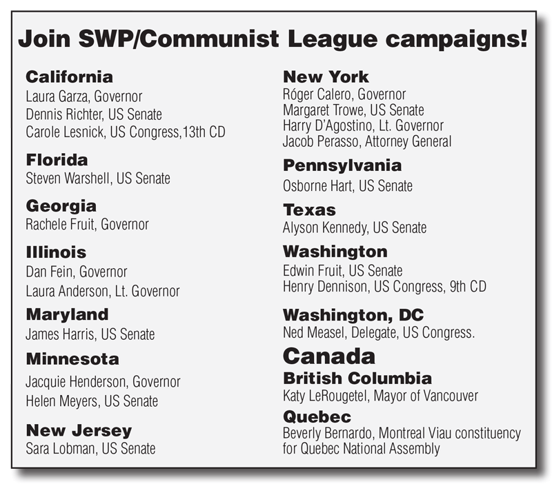 Join SWP/Communist League campaigns