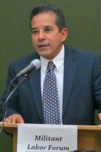 Róger Calero, candidato del PST para gobernador de NY reportó sobre gira a Nicaragua.