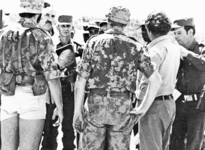 """It was understood in Washington that the people would fight and the invasion would be costly,"" says Cuban Gen. Néstor López Cuba about U.S. rulers' plans to invade Cuba in 1962. Above, López Cuba, third from left in hat, during internationalist mission in Angola 1976."