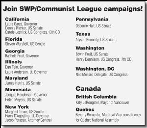 Join SWP/Communist League campaigns!