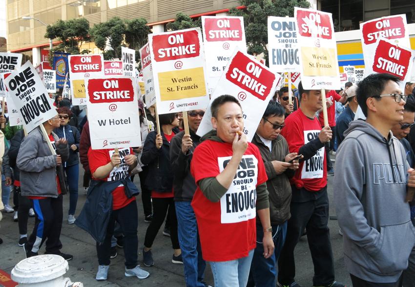 Solidaridad con trabajadores de hoteles en huelga