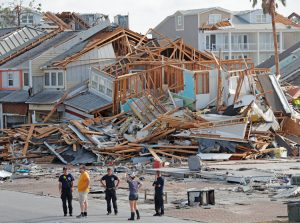 """Workers face total destruction in Mexico Beach, Florida, where pro-builder codes allowed use of inferior material to boost profits. As storm neared, gov't told people """"you're on your own."""""""