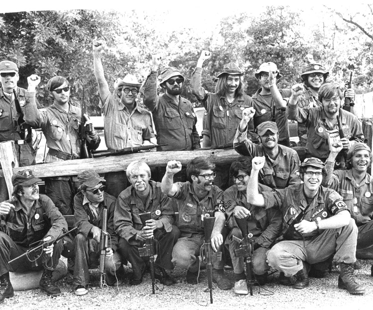 Vietnam War veterans march from Morristown, New Jersey, to Valley Forge, Pennsylvania, Sept. 4-7, 1970, to oppose Washington's Indochina War, demand all GIs be brought home now.