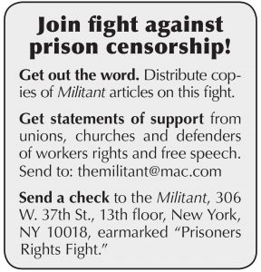 Join fight against prison censorship!