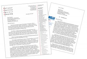 Letters from the National Coalition Against Censorship and the American Civil Liberties Union of Florida calling on Florida prison authorities to stop interfering with delivery of the Militant to its prison subscribers there, a violation of constitutional rights of prisoners and the paper.