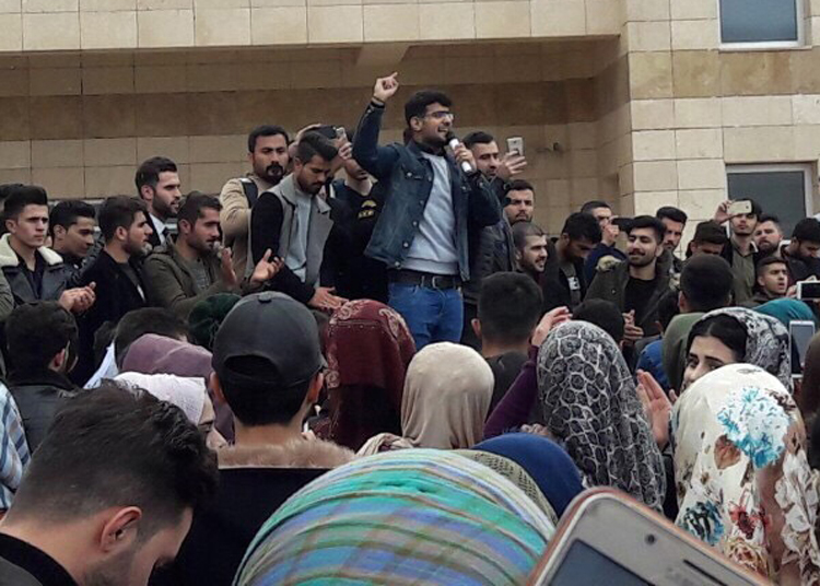 Sulaymaniyah students protest campus conditions