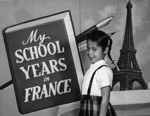 Nan Bailey de 8 años en Ingrandes, Francia.