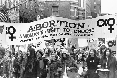 Bailey was a coordinator of Women's National Abortion Action Coalition, organized to fight for a woman's right to choose. Above, Nov. 20, 1971, march in Washington, D.C.