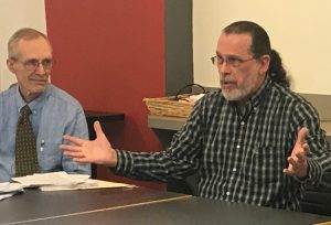"""The best way to learn about Cuba is to go and see for yourself,"" professor Enrique Sacerio-Garí told meeting in Philadelphia, Feb. 3. John Staggs, left, Socialist Workers Party candidate for Philadelphia City Council at-Large, described the 2019 May Day brigade to Cuba."