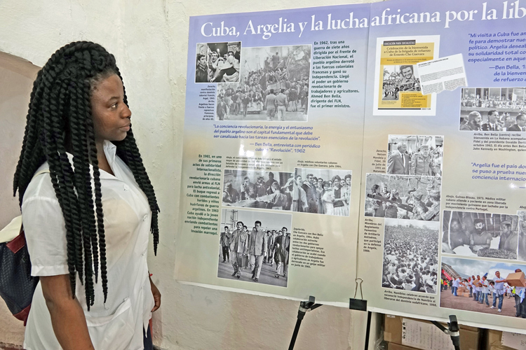 """Cuba, Algeria and the African Freedom Fight"" was one of the most popular displays at Pathfinder Books stand at Havana book fair. Pathfinder publishes several titles that take up this theme, two of which are excerpted in the accompanying article ""The Algerian Revolution and its impact on popular struggles in Africa, worldwide""."