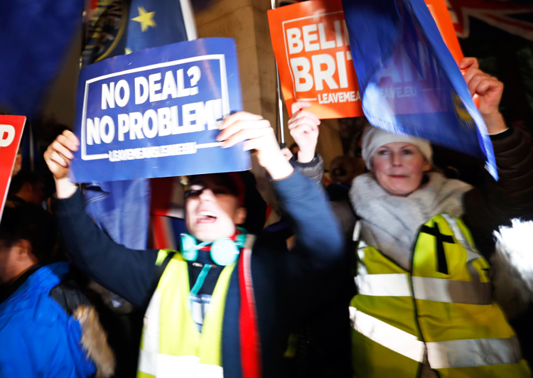 Jan. 15 London protest against further delays in Britain getting out of the European Union.