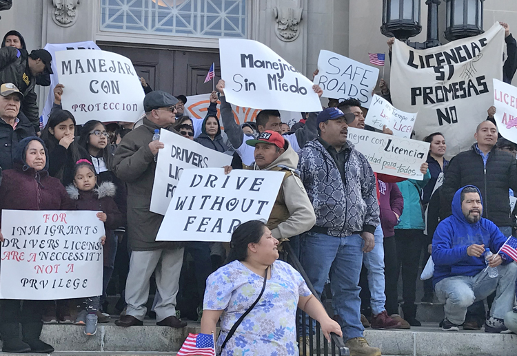 Protest in Bridgeton, New Jersey, March 17, one in a series of demonstrations demanding driver's licenses for undocumented immigrants. This would be an advance for working-class unity.Protest in Bridgeton, New Jersey, March 17, one in a series of demonstrations demanding driver's licenses for undocumented immigrants. This would be an advance for working-class unity.