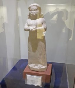 """The only statue of a woman in Neo-Assyrian galleries — covering 911-612 B.C. — of the Iraq National Museum in Baghdad, which features massive statues and carvings of kings and their male servants during this period in the """"cradle of civilization."""" Rise of class-divided society degraded the status of women, images of whom were frequent a millennia earlier. This graphically confirms what Frederick Engels wrote in The Origin of the Family, Private Property, and the State."""