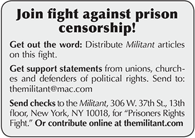 Join fight against press censorship