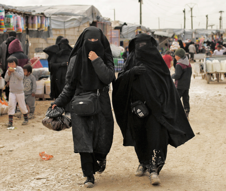 """Thousands of women formerly """"married"""" to Islamic State fighters and their children are being held in appalling conditions in al-Hol, above, and other detention camps in Syria and Iraq."""