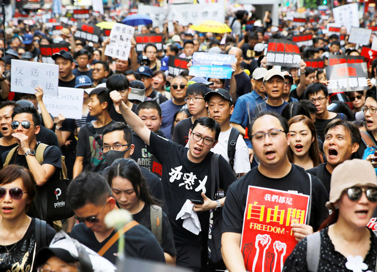June 16 demonstration in Hong Kong drew some 2 million people, largest mobilization in history of former British colony. Beijing fears its impact on working people inside China.