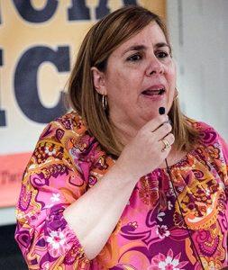 Ana Silvia Rodríguez, Cuban deputy UN ambassador, at New York celebration on beginning of revolution.