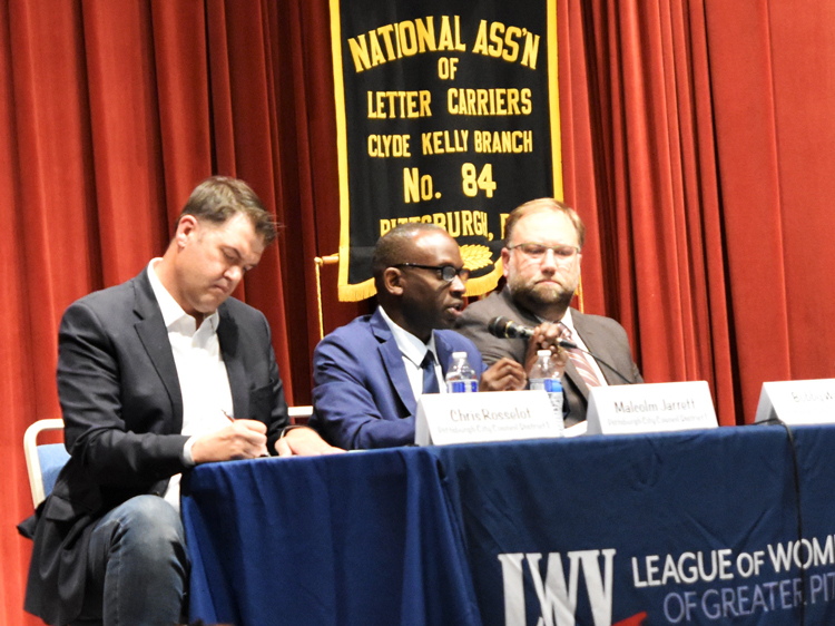 "The Socialist Workers Party ""begins with the ability of working people to fight,"" said Malcolm Jarrett, speaking, SWP candidate for Pittsburgh City Council, at Oct. 15 candidates debate."