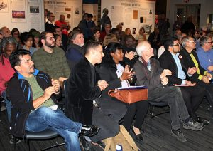 """""""We fought revolutionary struggles to overthrow slavery in Cuba and here in the U.S.,"""" José Ramón Cabañas, inset, Cuba's ambassador to the U.S., told event in soldiarity with Cuba and Venezuela in Washington, D.C., Oct. 19. """"Our solidarity has strong historic roots."""""""