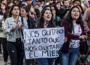 Students in Osorno, Chile, Oct. 19 protest government attacks against working people.