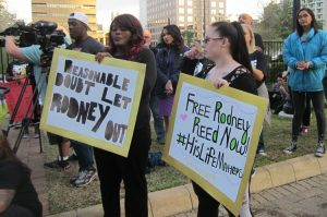 Nov. 17 action in Austin, Texas, celebrates victory, gives boost to fight to free Rodney Reed.