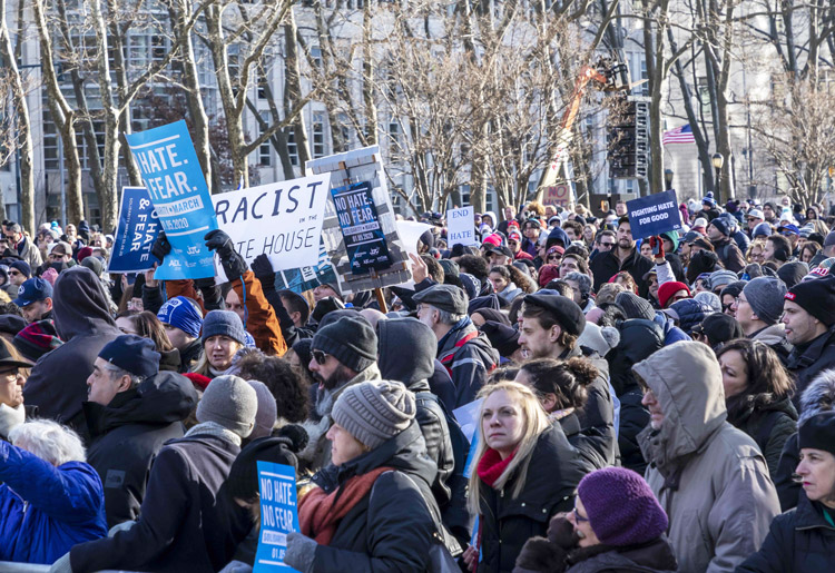 Thousands march in New York against deadly Jew-hatred attack on deli in Jersey City. Rulers scapegoat Jews as evil cabal responsible for high rents and all social ills, not capitalist system.