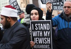 Some 250 people gather in Brooklyn's Grand Army Plaza to condemn anti-Semitic attacks Dec. 31, days after brutal machete assault on Hanukkah celebration in Monsey, New York.