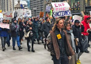 Jan. 4 Chicago protest, one of over 70 in U.S. demanding Washington get out of Middle East.