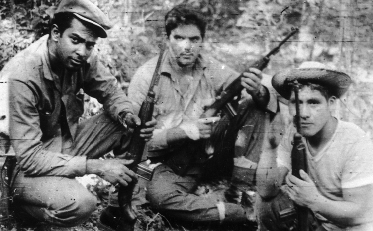 Harry Villegas, left, and fellow combatants Alberto Fernández Montes and Serapio Aquino in Bolivia in 1966 or 1967, part of revolutionary struggle led by Che Guevara.