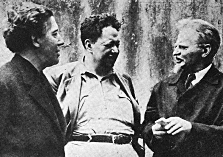 "From left, surrealist leader André Breton, Mexican artist Diego Rivera and Leon Trotsky, a leader of the Russian Revolution, wrote ""Manifesto for an Independent Revolutionary Art"" in 1938."
