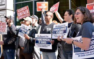 Obreros del cobre en huelga contra Asarco protestan en Phoenix contra ataque patronal a sindicatos, 24 de febrero. Unos 1 700 obreros han estado en huelga desde el 13 de octubre.