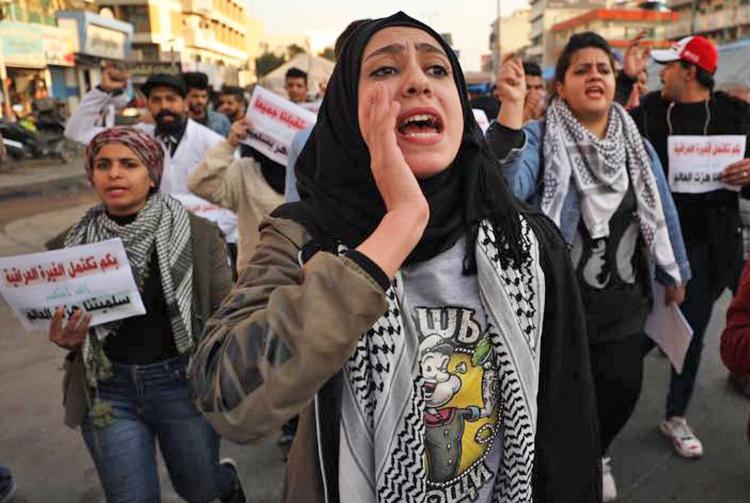 Jan. 29 protest in Baghdad against gov't repression, Tehran intervention.