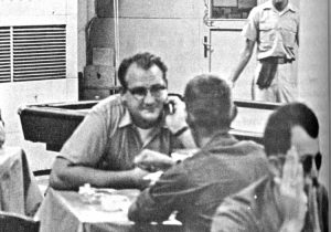 Fred Halstead, above, Socialist Workers Party 1968 candidate for president, campaigned among GIs in Vietnam. FBI targeted trip for disruption but failed in effort to provoke an attack.