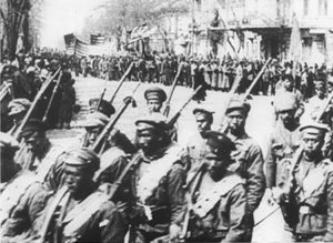 "With the help of the Red Army and after two years of combat, working people in Odessa, Ukraine, took power in 1919, defeating reactionary pro-czarist forces. Vladimir Putin denounces the Bolshevik Revolution for ""time bomb"" of self-determination for oppressed nationalities."