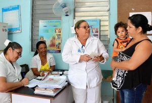 Clinic in Camagüey, Cuba, in March. Through its neighborhood doctors, nurses and special programs put in place since outbreak of coronavirus, Cuba has mobilized to confront new disease. Unlike the for-profit system in capitalist countries, in Cuba no one is left on their own.