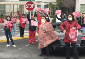 March 24 protest at Richmond, California, Kaiser Permanente, demanding immediate action to get needed protective gear. Nurses protested at other Kaiser hospitals earlier in the week.