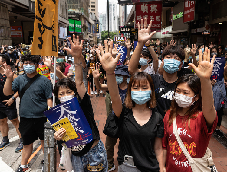 "Demonstrations rock Hong Kong May 24 against Beijing's moves to impose unilateral ""national security"" restrictions to curb protests, free speech, tighten its control over the region."