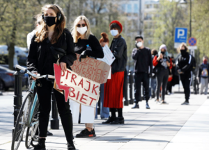 April 16 action in Warsaw against bill that would ban women's ability to choose an abortion