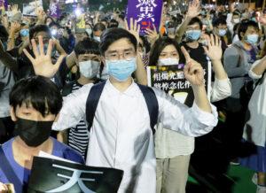 Hong Kong workers mark Tiananmen Square massacre