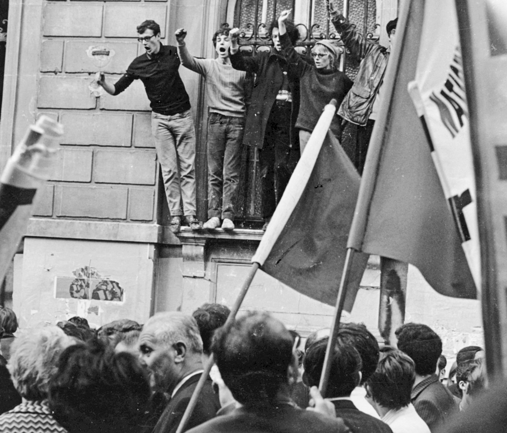 Popular uprising in Madagascar, which toppled government in 1972, had deep impact on Thomas Sankara, who was a military cadet there. He heard from fellow students about 1968 workers general strike in France, above. Transferred to France by the army, he scoured Paris for books by Karl Marx and other revolutionaries. He learned importance of studying history of class struggle.