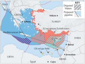 Map shows disputed areas between rulers of Greece, Turkey, other regimes in the region and imperialist powers as result of intensified competition amid the deepening crisis of capitalism.