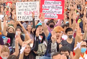 Thousands protest military regime in Thailand