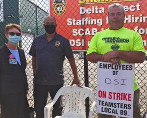 SWP presidential candidate Alyson Kennedy brings solidarity to Teamsters on strike at DSI Tunneling in Louisville, Kentucky, Oct. 22.