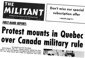50 years ago: Ottawa sends troops to occupy Quebec